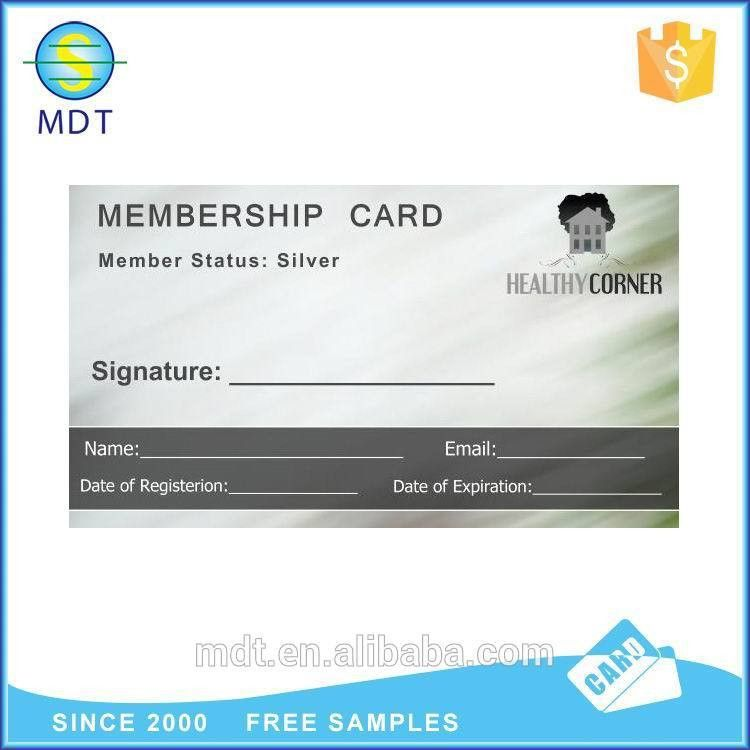 Sliver Membership Card With Logo And Phone Number And Email - Buy ...