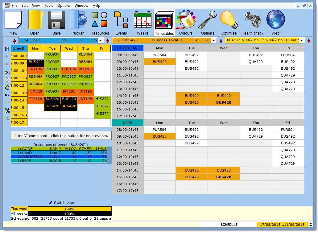 Mimosa - Scheduling Software for School and University Timetables ...