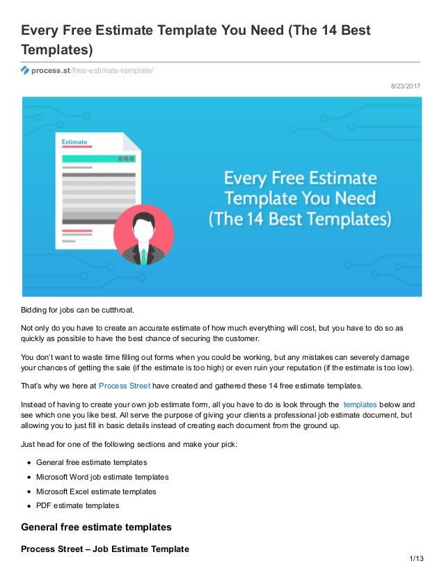 Every Free Estimate Template You Need (The 14 Best Templates)