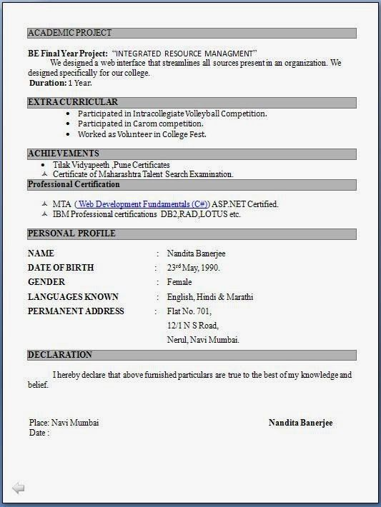 Updated Resume Formats. Resume Formats 2014 Word Templates Free ...