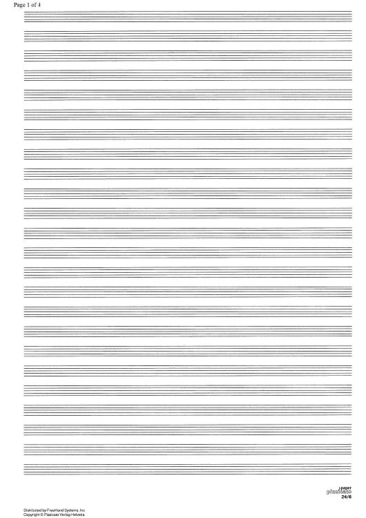Manuscript paper 24/6 Sheet Music - Music for Piano and More ...