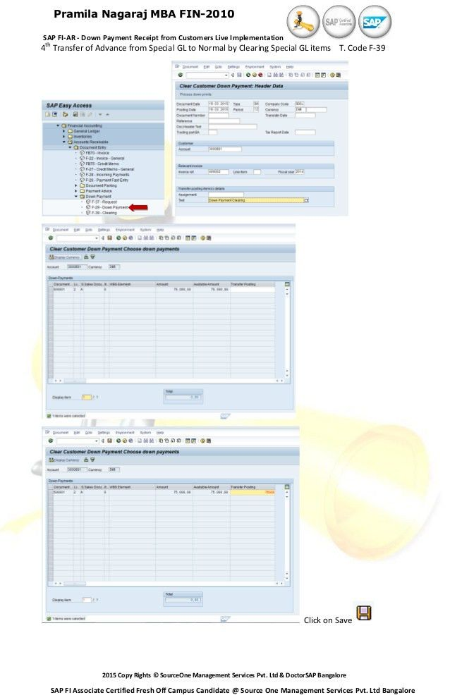 SAP FI-AR - ADVANCE RECEIPT FROM CUSTOMERS LIVE IMPLEMENTATION + USER…