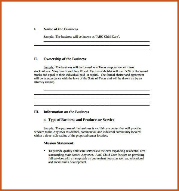 business plan sample pdf | sop example