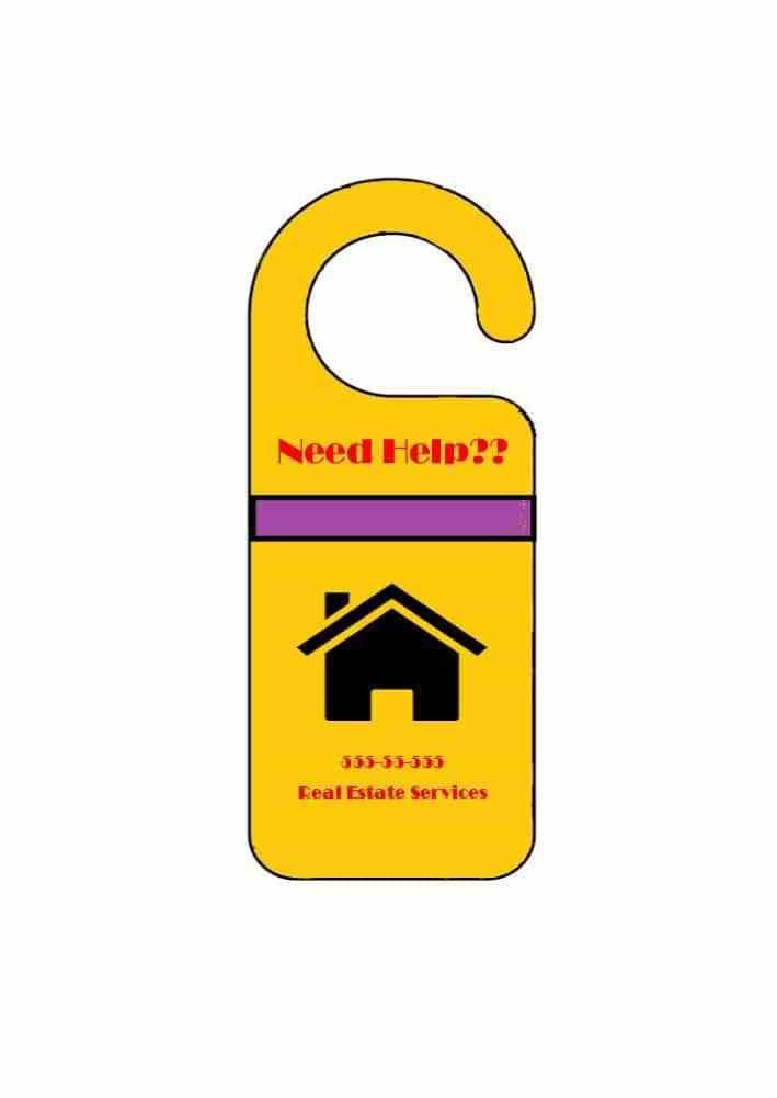Restaurant Door Hanger Template. Real Estate Door Hanger Rip Cards ...