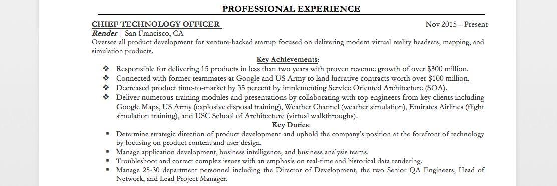 Executive Resume Examples & Writing Tips | CEO, CIO, CTO | Resume ...