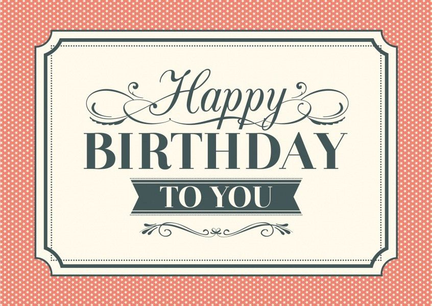 Vintage Style | Happy Birthday Cards | Send real postcards online