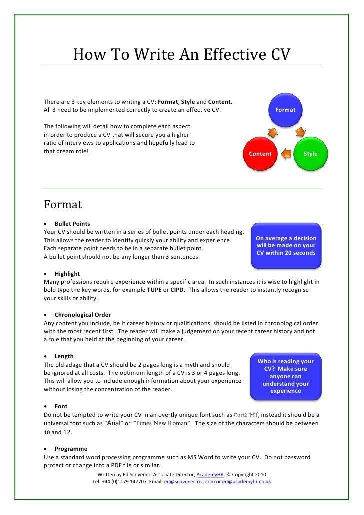 Sample Effective Resume   haadyaooverbayresort.com