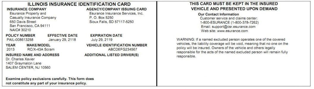 Car Insurance Card Template Free | Template Design