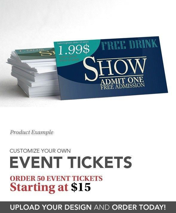 Event Ticket Printing - Custom Event Tickets | IMAGERS