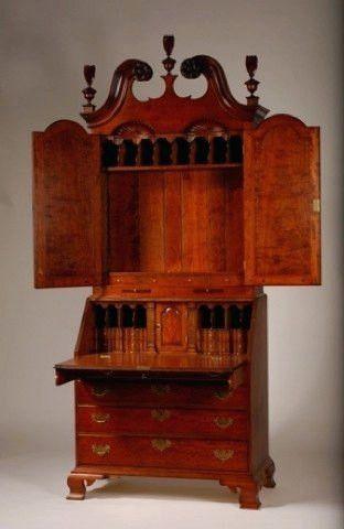 Desk ~ Ethan Allen Antiqued Pine Old Tavern Fall Front Desk ...