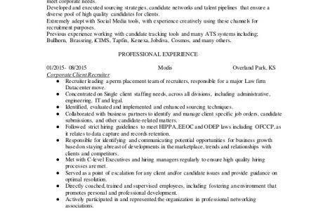 Recruiter Resume Sample Physician Recruiter Resume Assistant ...