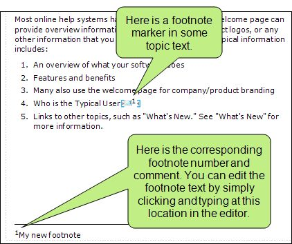 About Footnotes