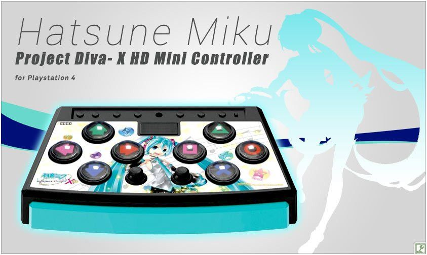Hatsune Miku -Project Diva- X HD Mini Controller for Playstation 4 ...