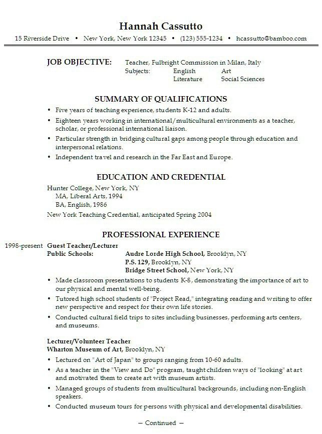 Sample Of Resume For High School Student | Experience Resumes