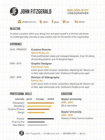 61 best Resumes images on Pinterest | Resume ideas, Resume ...