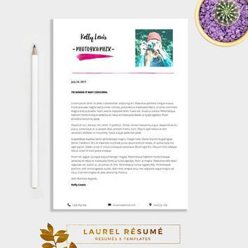 Elegant Résumé Template. 2 Pages Resume + from LaurelResume on