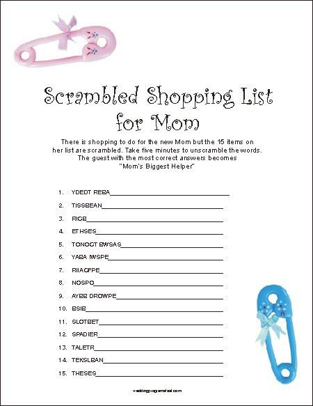 Baby Shower Food Ideas: Free Baby Shower Ideas And Games