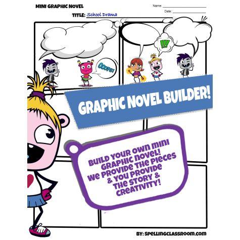 NEW** MINI GRAPHIC NOVEL BUILDER | COMIC STRIP TEMPLATE | CREATIVE ...
