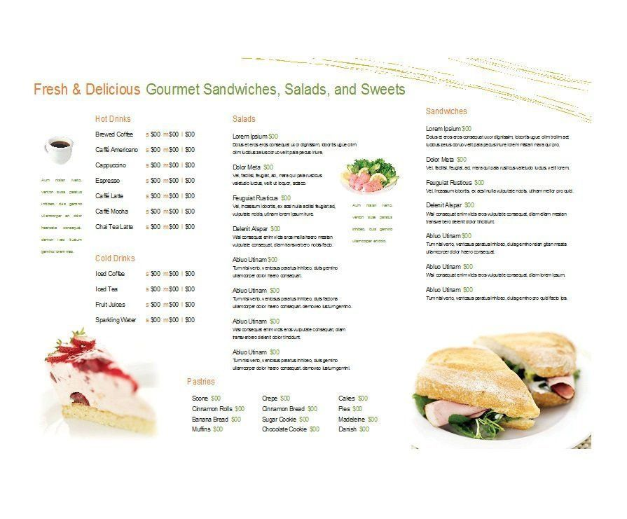 Restaurant Menu Templates Free Word - Template Examples