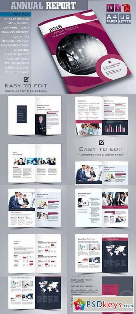 Annual Report Template 479100 » Free Download Photoshop Vector ...