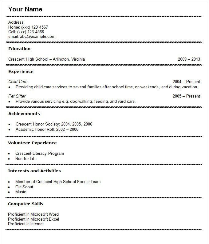 Resume Templates For Students | haadyaooverbayresort.com