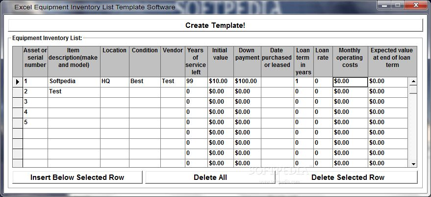 Excel Equipment Inventory List Template Software Download