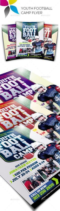 Youth Football Camp Postcard | Fonts-logos-icons | Pinterest ...