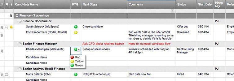 Job Candidate Tracker Template | Smartsheet