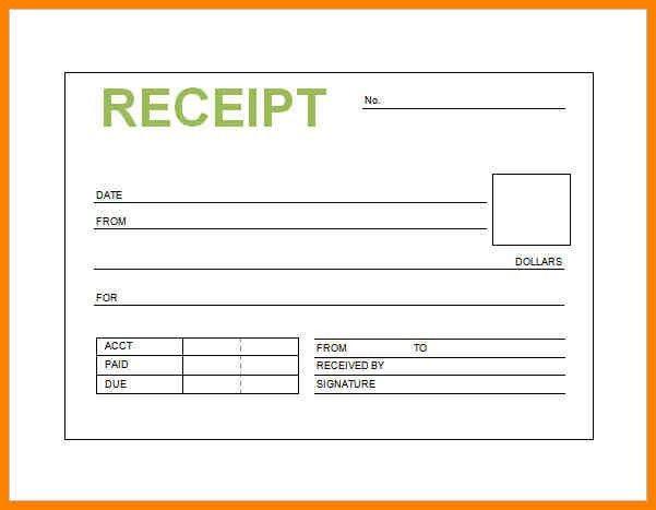 receipt sample - Template