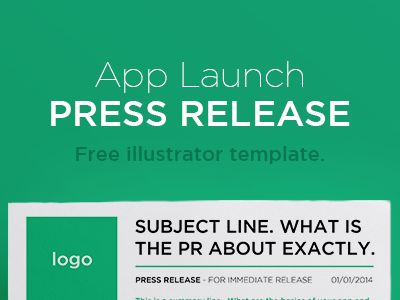 Free Press Release Illustrator Template | Free PSD,Vector,Icons