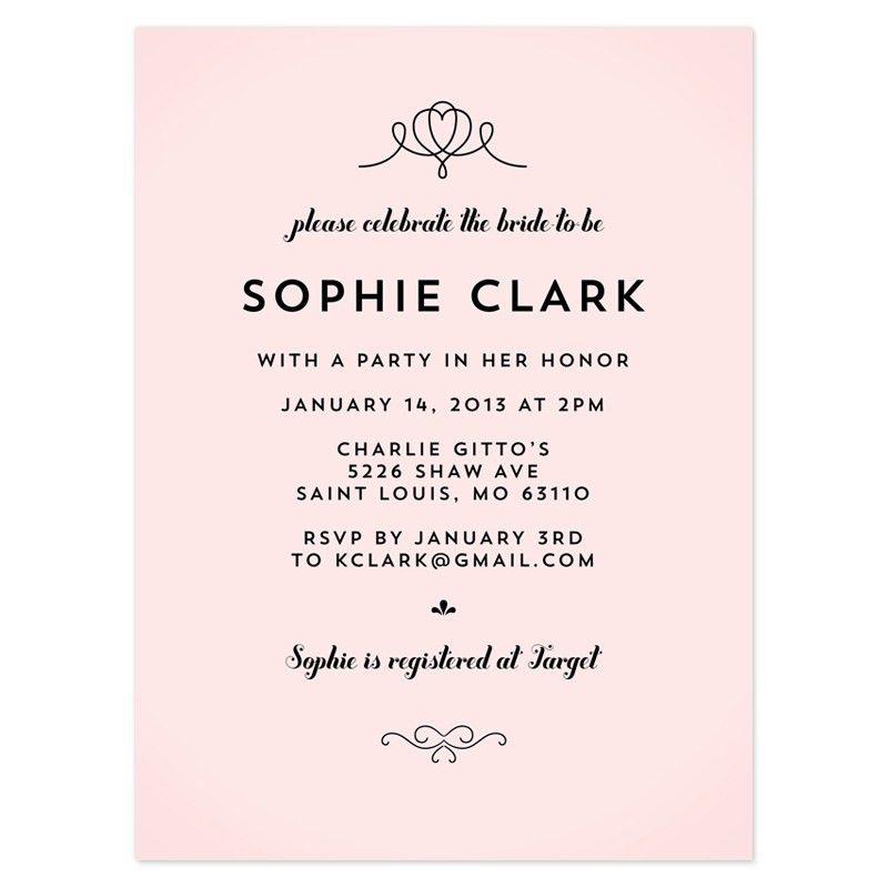 Bridal Shower Invitation Wording References | Steph's wedding ...