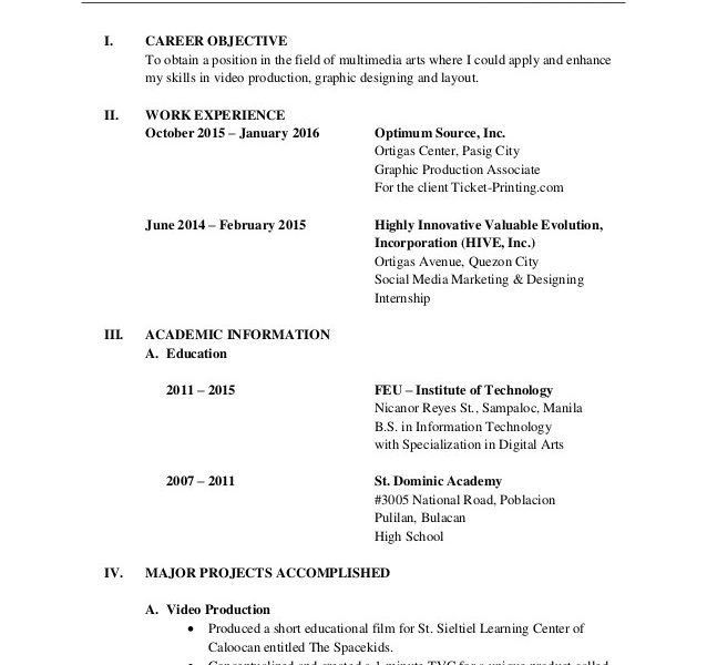 Exclusive Ideas Formal Resume 2 Formal Resume - Resume Example