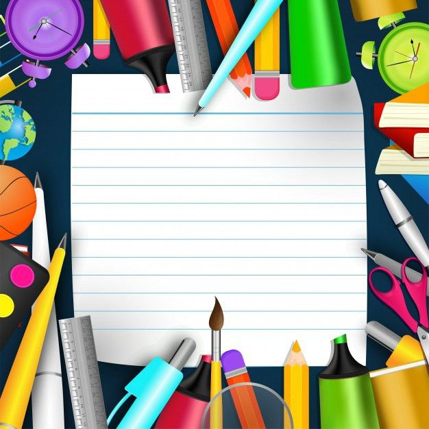 School Stationery and Blank  Notebook Paper, Back to School ...