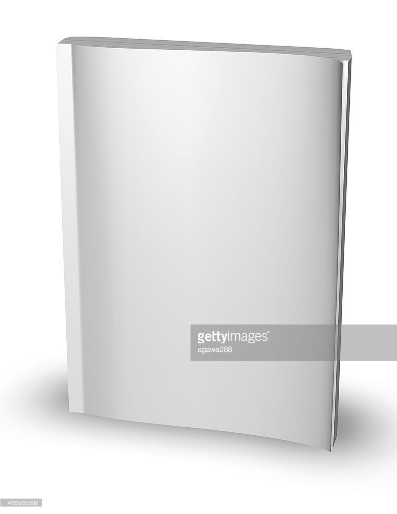3d Empty Paper Magazine Diary Template Standing With Blank Cover ...