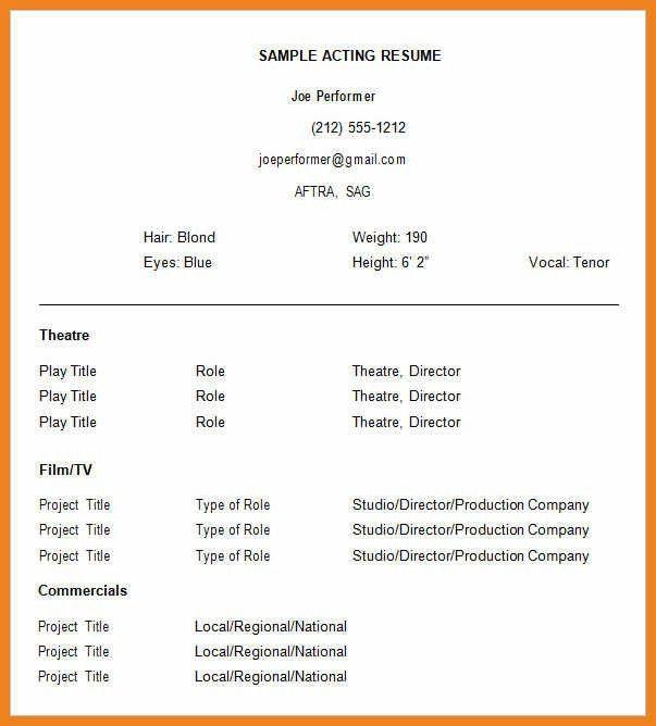 actor resume template   teller resume sample