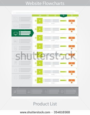 Web Template Simple Vector Product List Stock Vector 354616574 ...