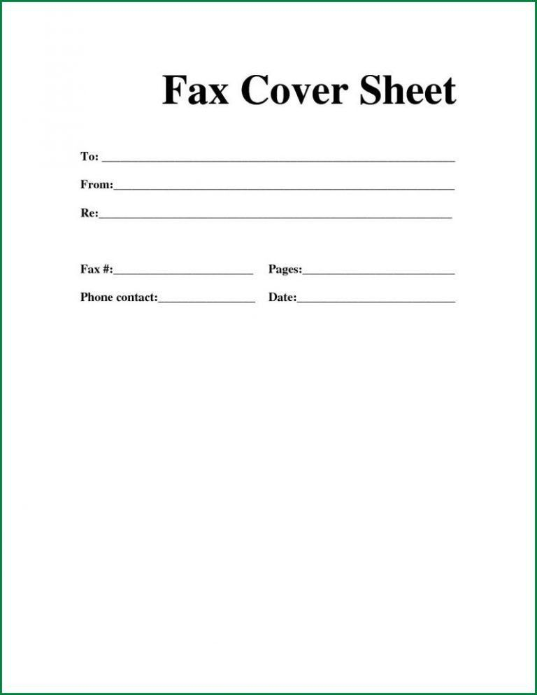 Sample Fax Cover Sheet For Resume. Fax Cover Sheet Template Word ...