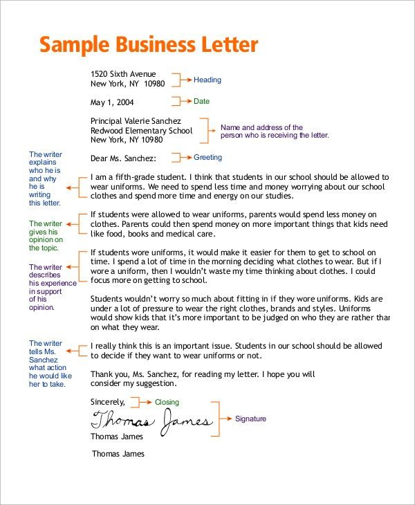 Business Letter Sample - 8+ Examples in Word, PDF