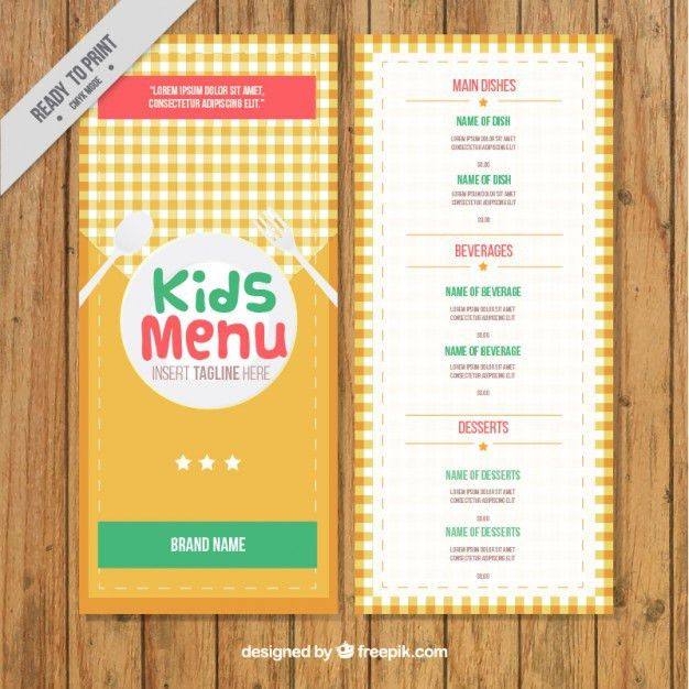 Kids Menu Vectors, Photos and PSD files | Free Download