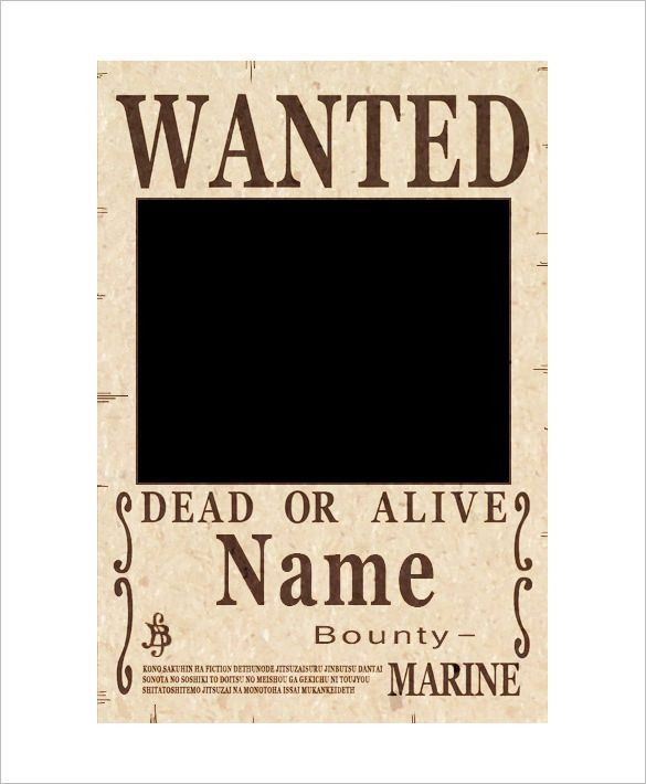 12+ One Piece Wanted Poster Templates – Free Printable, Sample ...