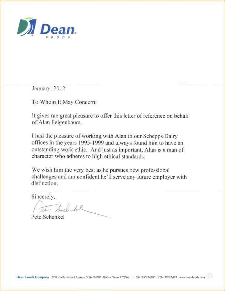Sample Reference Letter From Past Employer. Sample Letter Of ...