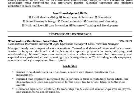 Loss Prevention Officer Resume Sample - Reentrycorps