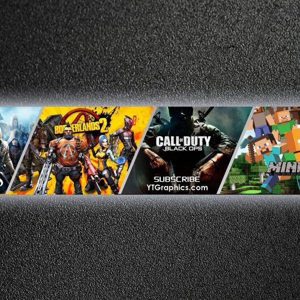 Youtube Channel Art Banner Template within Youtube Gaming Banner ...