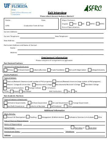 Exit Interview Form. Interview Evaluation 5 Free Download For Pdf ...