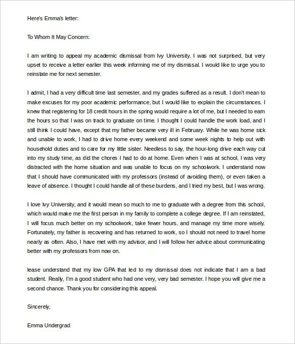 Appeal Letter Template – 10+ Free Word, PDF Documents Download ...
