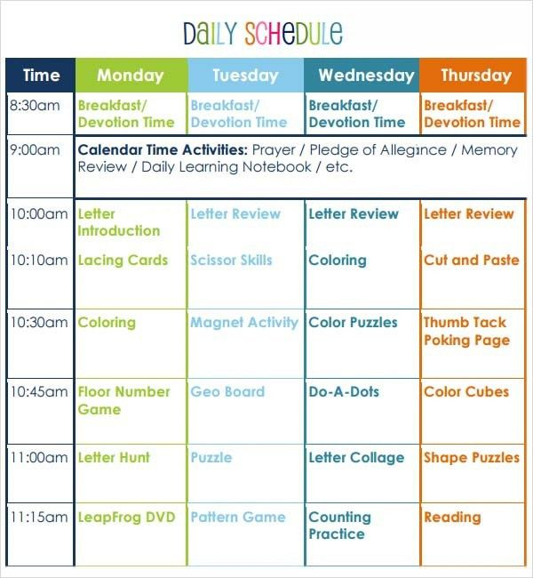 Preschool Lesson Plan Template | peerpex