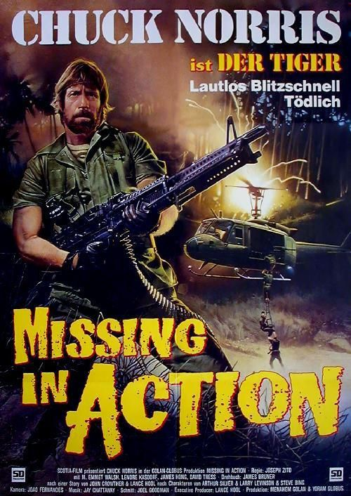 Missing in Action: German Movie Poster | Missing in Action ...