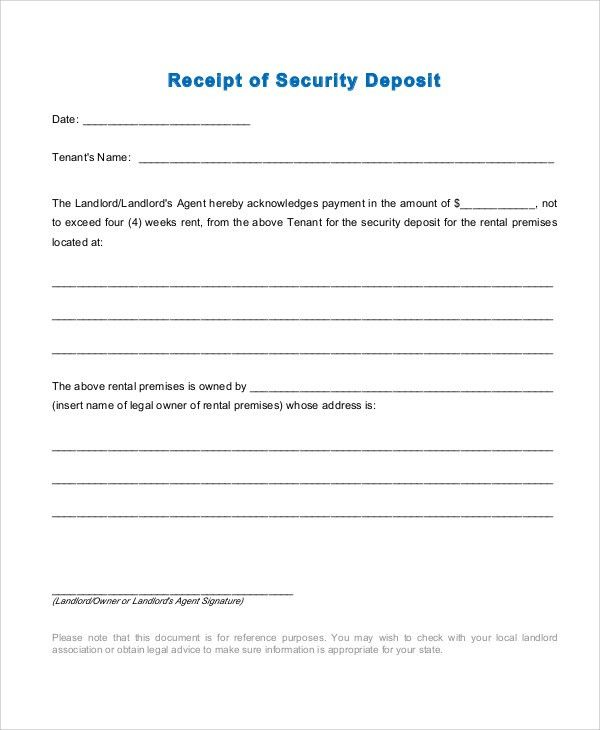 Sample Rent Receipt - 6+ Documents in PDF