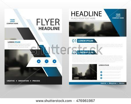 Blue Annual Report Brochure Flyer Design Stock Vector 398409832 ...