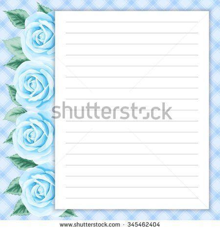 Lined Page Notes Design Retro Style Stock Vector 345462857 ...
